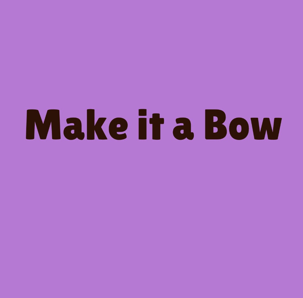 Make it a Pet Collar Bow