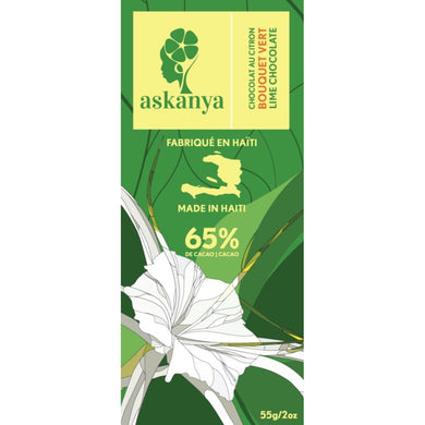 Askanya - Dark Chocolate, Bouquet Vert - Bonbon Lakay