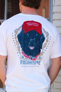 MAGA Dog Tee - White