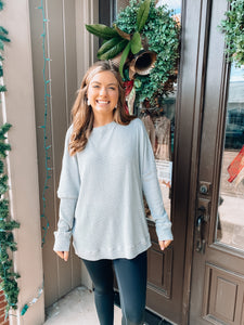 Light grey Waffle top
