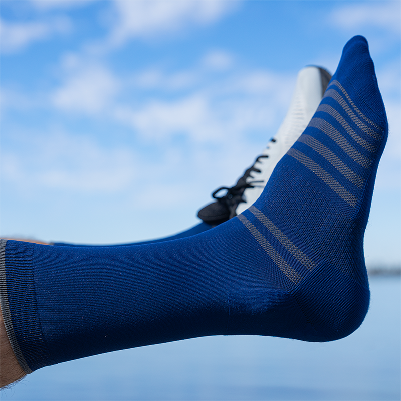 All Day Performance Dress Sock Blue Athletic