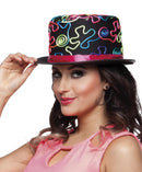 Hat with colorful ornaments