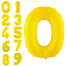 Neon yellow foiled bubble figures 102 cm
