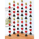 Hanging decoration with cards 6 pcs 213 cm