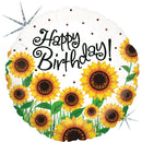 Bubble with Sunflower Birthday