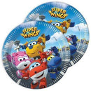 Paper plates with super wings