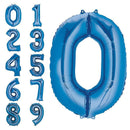 Helium bubble numbers blue foiled