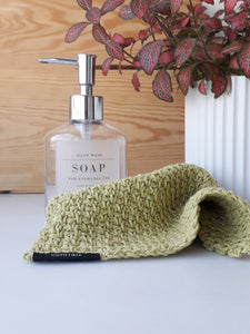 Handmade Crochet Washcloth in Recycled Cotton