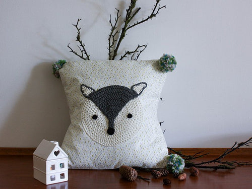 Pillowcase Woodland Friends - Fox Grey