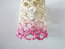 "Load image into Gallery viewer, Pendant Lamp ""Rope Net Dyed"" - Pink - Com Raiz"