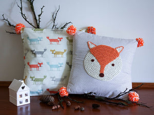 Pillowcase Woodland Friends - Foxes Orange