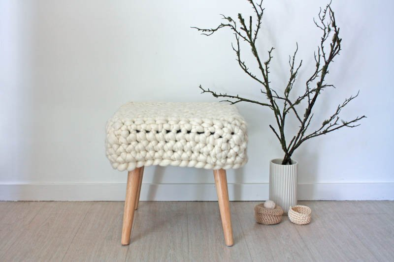 Chunky Sheep Stool - Natural
