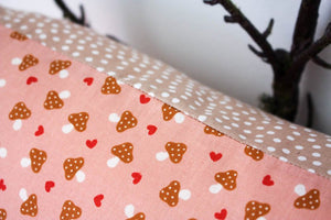 Pillowcase Woodland Friends - Pink Mushrooms