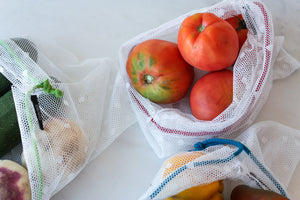 Reusable Mesh Produce Bags - Set of 3 - Size M, L