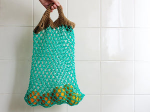 Green Crochet Market Bag