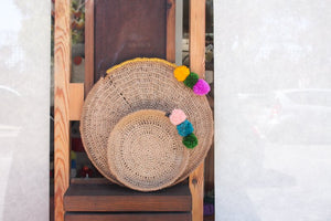 Basket/ Tray Boho Natural - L