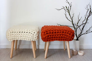Chunky Sheep Stool - Brick Orange