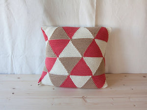 Pillow Geométrica Triangles Salmon