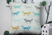 Load image into Gallery viewer, Pillowcase Woodland Friends - Foxes Green and Grey