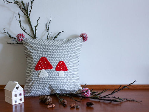 Pillowcase Woodland Friends - Mushroom