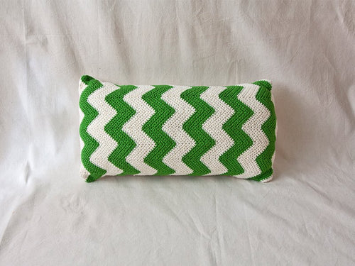 Pillow Geométrica Zig Zag Green