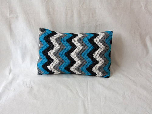 Pillow Geométrica Zig Zag Black