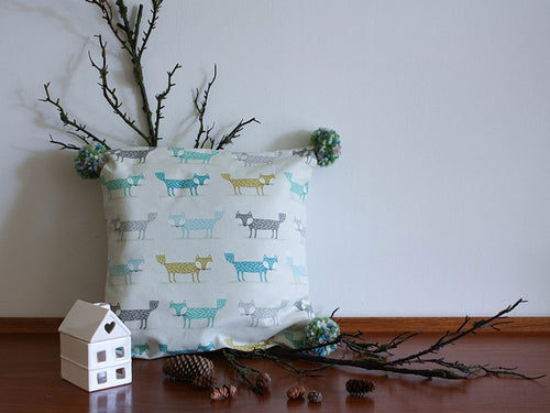 Pillowcase Woodland Friends - Foxes Green