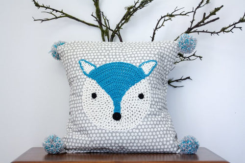 Pillowcase Woodland Friends - Fox Blue