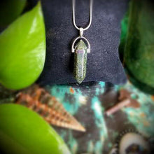 Load image into Gallery viewer, Green Aventurine Pendant on Sterling Silver Chain