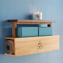 Load image into Gallery viewer, Yoga Mat Storage and Display Shelf