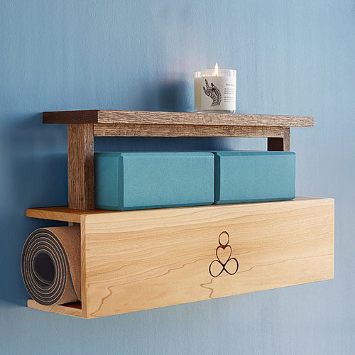 Yoga Mat Storage and Display Shelf
