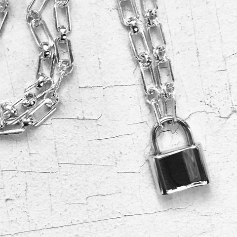 BDSM Padlock Lighter Chain Necklace