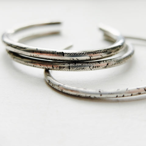 Distressed Sterling Silver Cuff Bracelet