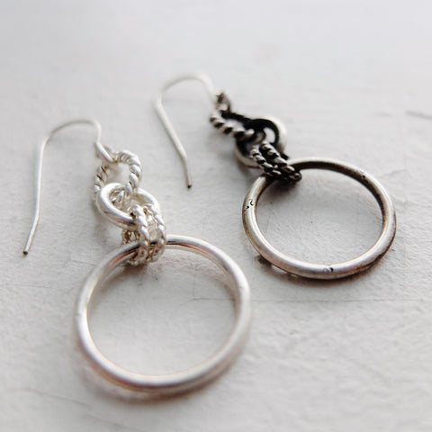 Chain and Ring Dangle Earrings
