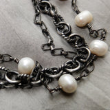 Large Pearl & Multi-Chain Collar