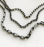 Oxidized Sterling Silver Cable Chain