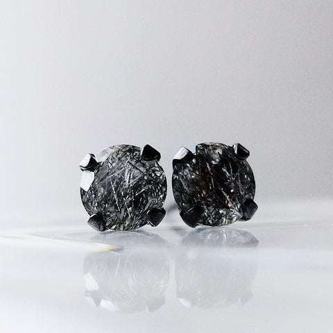 Quartz Stud Earrings