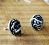 Sterling Silver Rope Twist Cufflinks