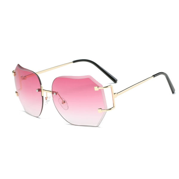 Women  Summer Vintage Retro Square Gradient Color Sunglasses