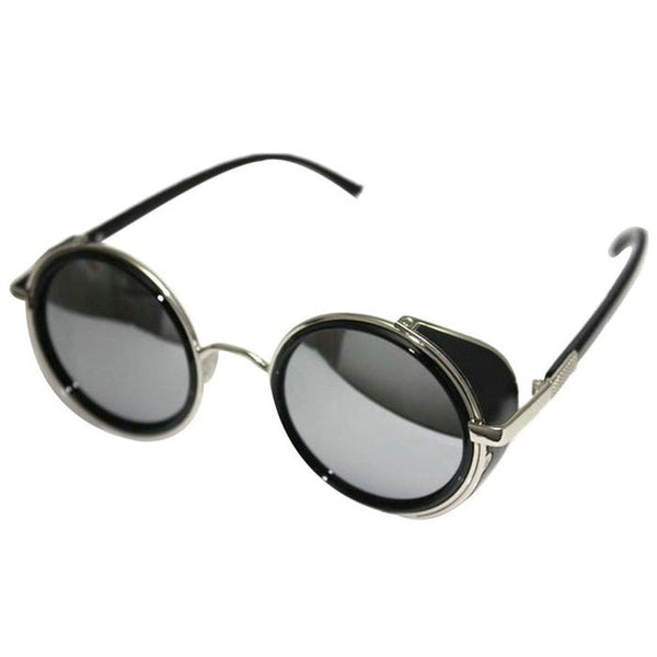 Fashion Mirror Lens Round Glasses Cyber Goggles for Women