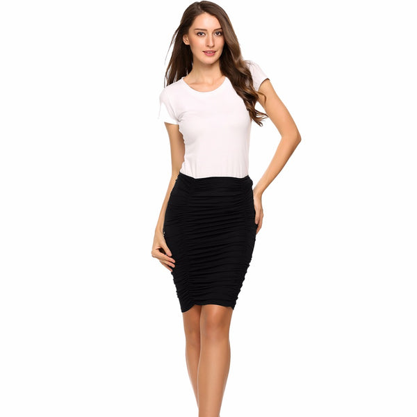 Fashion Summer High Waist Package Hip Elegant Women Skirts