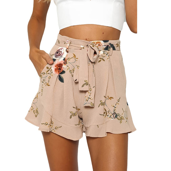 Fashion Women Shorts Sexy Skirt Summer Print Flower Pants