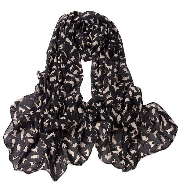 Fashion Women Scarves Little Cat Long Soft Wrap