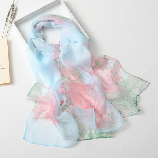 Fashion Women Lotus Scarves Printing Long Soft Wrap