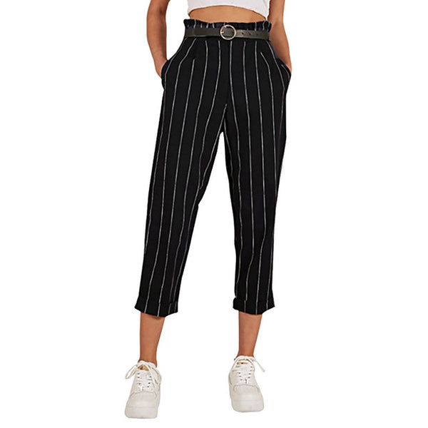 Fashion Spring Pants Women Casual Striped