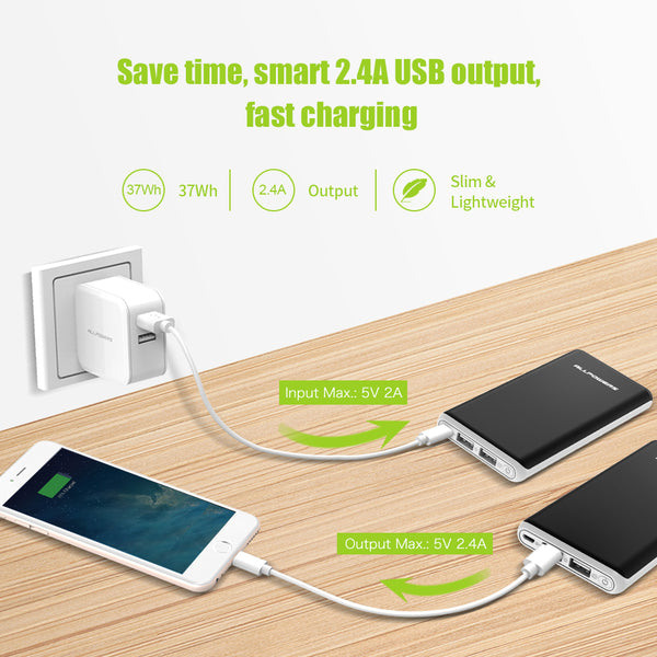 Power Bank 22000mAh Portable External Battery Dual USB Output Quick Charge