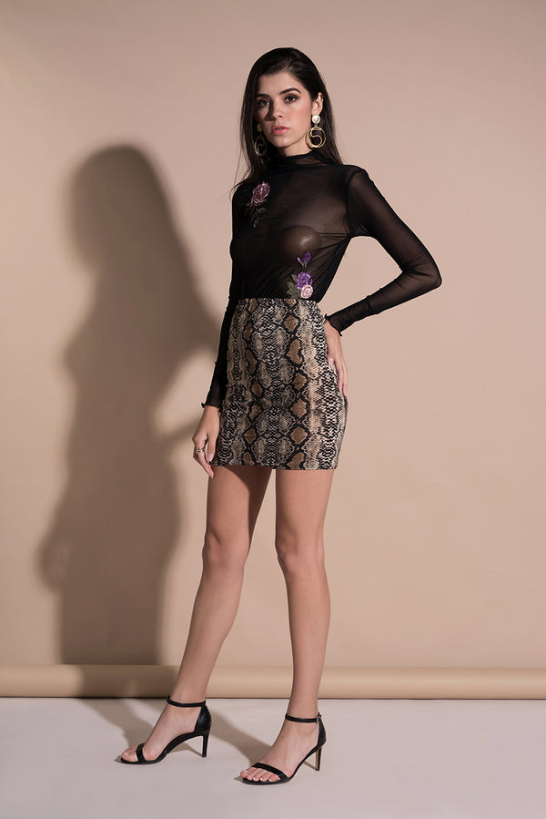Women's Skirts Sexy High Waist Leopard Print Pencil