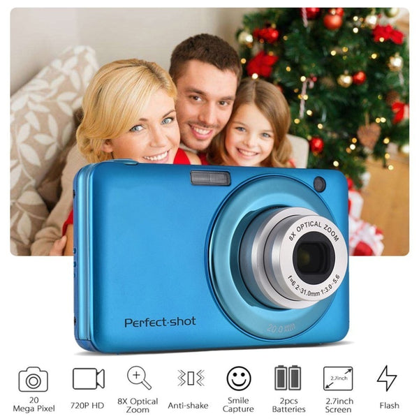 Compact HD 8x Focus Zooming Photo Video Record Digital Camera