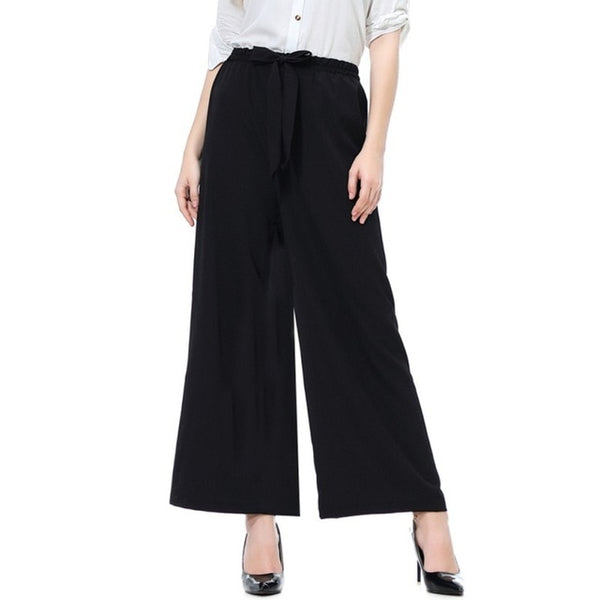 Wide Leg Pants Women High Waist Plaid Striped Loose