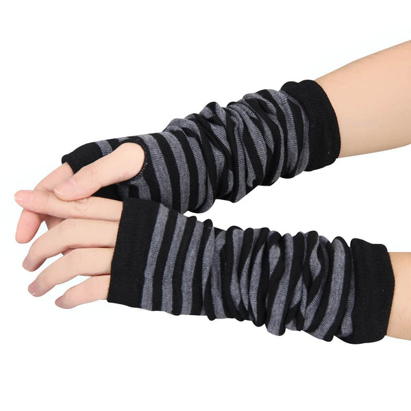 Gloves Winter Wrist Arm Hand Warmer Knitted Long